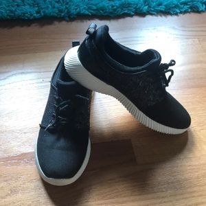 Black Sparkly Athletic Shoes